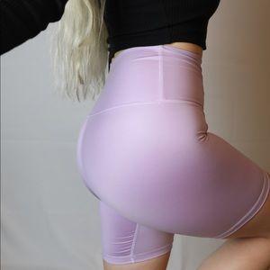 NEW Pastel lilac purple biker shorts